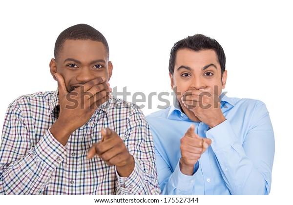 Closeup Portrait Two Excited Happy Men Stock Photo Edit Now 175527344