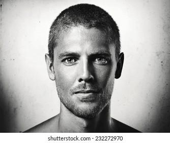 9334a7fb0d Close-up portrait of a young attractive man