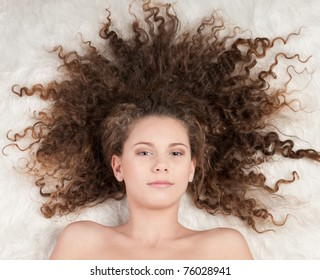 Bed Curly Hair Images Stock Photos Vectors Shutterstock