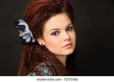 closeup portret of a beautiful girl