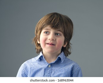 Close-up of a positive beautiful kid isolated