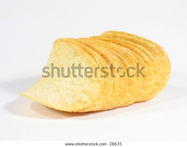 Close-up of potato chips.