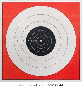 A Closeup of a practice target used for shooting