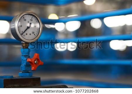 Closeup Pressure Gauge Psi Meter Pressure Stock Photo (Edit