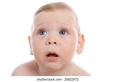 Close-up pretty baby portrait