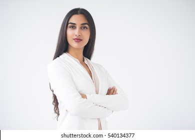 Closeup of Proud Gorgeous Indian Business Woman