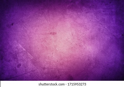 Closeup of purple textured concrete background. Dark edges
