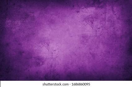 Closeup of purple textured grunge background. Dark edges