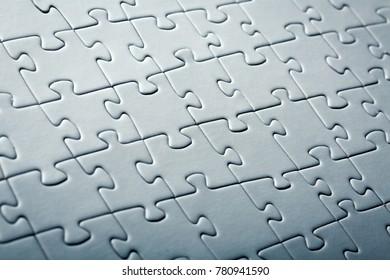 Closeup puzzle pieces