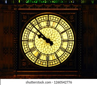 Close-up of the quadrant of Big Ben, London