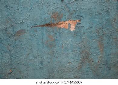 Fermeture de l'ancienne texture de paroi craquée bleue