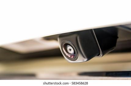 Close-up of rear view camera/Car rear camera/Car parking camera