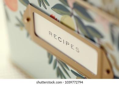 Closeup of Recipe Box