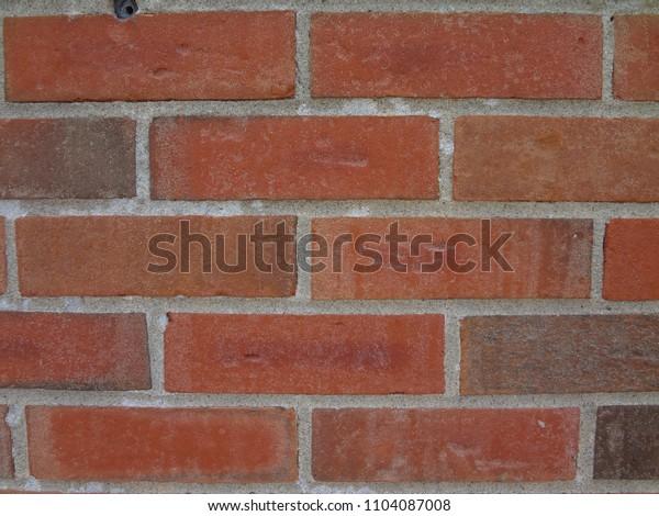 Closeup of Red Brick Wall