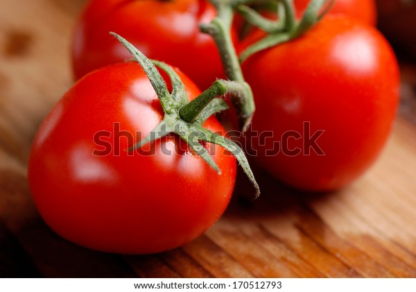 closeup of red cherry tomatoes