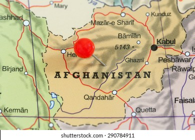 Afghanistan map images stock photos vectors shutterstock close up of a red pushpin on a map of afghanistan gumiabroncs Gallery