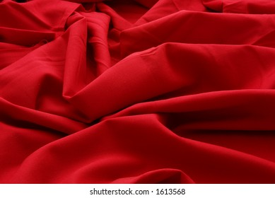 Closeup of red wool