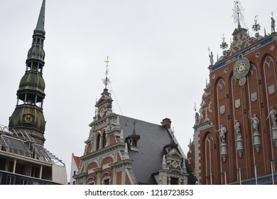 Close-up of Riga Architecture - Riga, Latvia