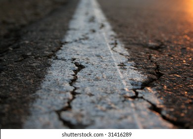 close-up of road