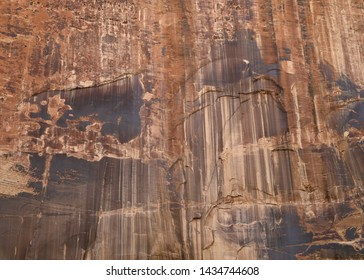 Closeup of a rock wall along the trail to Lower Calf Creek Falls, Grand Staircase Escalante National Monument, Utah