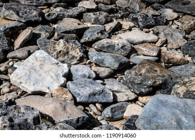 A close-up of rocks found along a secluded beach in the Bahamas.