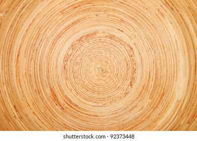 Closeup of a rounded wood structure
