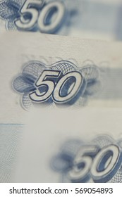 Closeup russian banknotes money