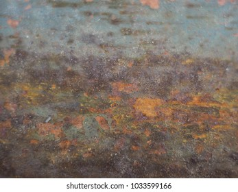 close-up of rust surface on the steel