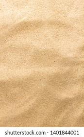 Closeup of sand pattern of a beach.  Summer background.