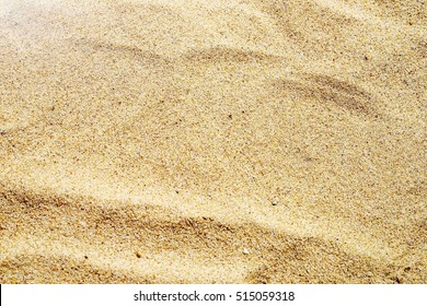 Closeup of sand pattern in a playground , top view