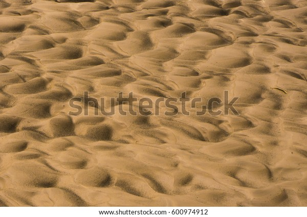 Closeup of sand patterns