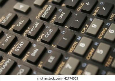 closeup of scientific calculator