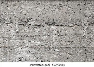 Closeup seamless gray concrete wall background texture.