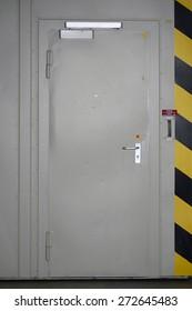 The close-up of a security door or steel door / Security door