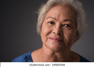 Close-up of a senior woman