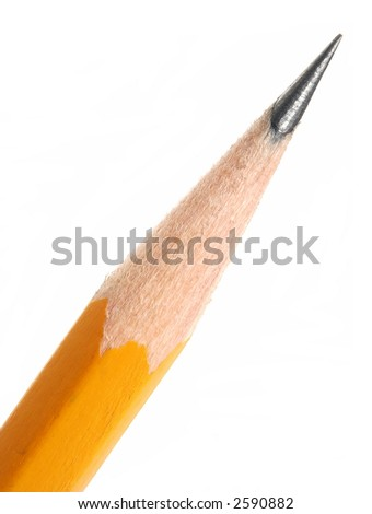 closeup sharpened pencil tip isolated on stock photo edit now