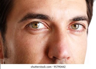 Closeup shooting of a man's face