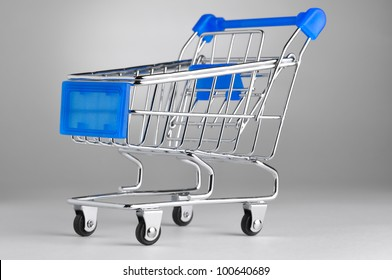 closeup of a shopping cart