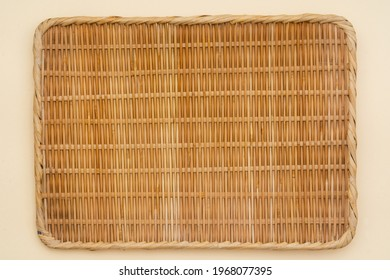 Close-up shot of Bamboo colander as background material