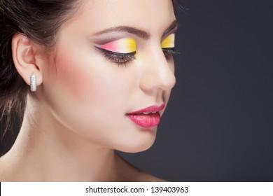 Closeup shot of a beautiful young asian woman