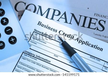 Closeup Shot Business Credit Application Form Stock Photo Edit Now
