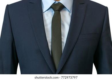 Closeup shot of business suit on a man