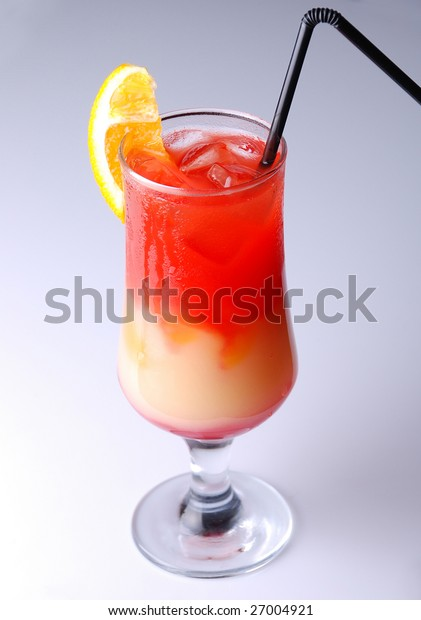 Close-up shot of a cocktail