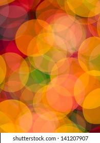Close-up shot of color lights show