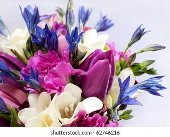 closeup shot of colorful bouquet