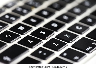 closeup shot of computer keyboard