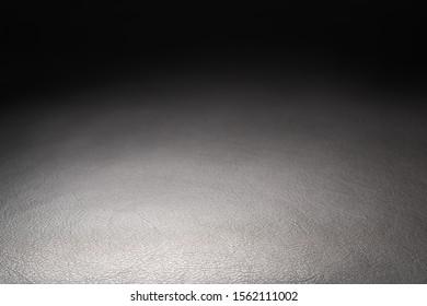 Closeup shot of full garin dark brown full grain leather