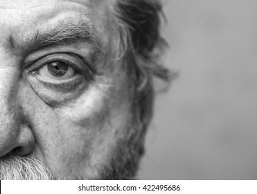 Closeup Shot Of A  Man Eye