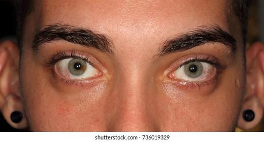 Close-up shot of man's eye.