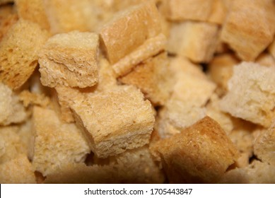 close-up shot of pieces of dried white bread, can be used as a background